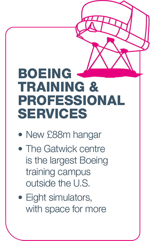 Boeing Training & Professional Services infographic