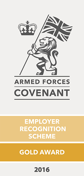 Armed Forces Covenant, Employer Recognition Scheme - Gold Award 2016
